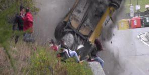 Чудом выжившие зрители после аварии на Jolly Rally в Италии (Видео)