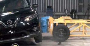 Краш-тест Nissan X-Trail новой генерации (Видео)